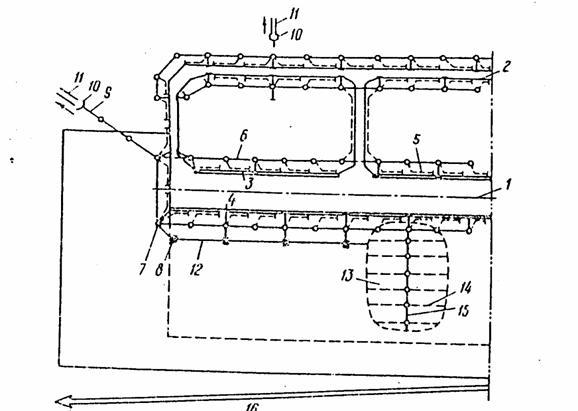 Рис. 5.1. Общий вид расположения водоотводных систем на аэродромах: