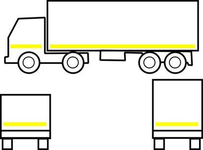 Примеры нанесения светоотражающей маркировки при помощи полос