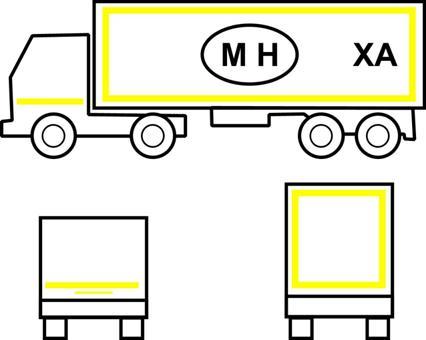 Примеры нанесения светоотражающей контурной маркировки (с отличительной и графической маркировкой)