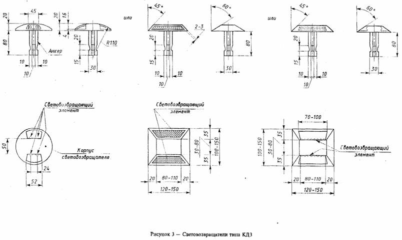 ГОСТ Р 50971-96 Технические средства организации дорожного движения. Световозвращатели дорожные. Общие технические требования. Правила применения
